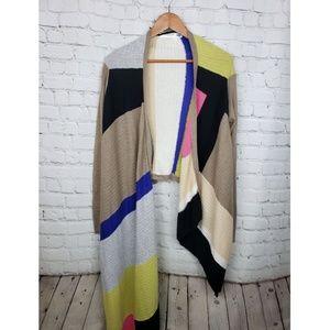 Anthropologie Sparrow Multicolor Wrap Cardigan
